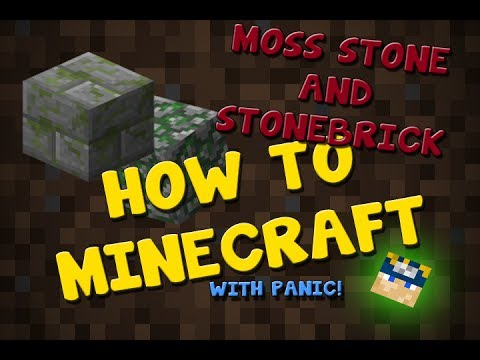 How To Minecraft||How to make Moss Stone and Stone Bricks||