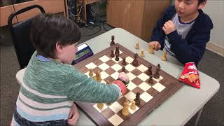 7 Year Old Golan vs. 9 Year Old Evan! Battle of 2 Great Chess Kids!