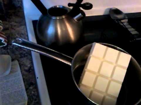 White chocolate almond bark pretzels part 1