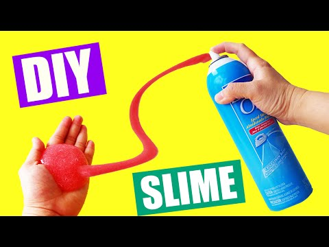 How To Make Slime with Liquid Spray Starch No Borax Slime DIY by Bum Bum Surprise Toys