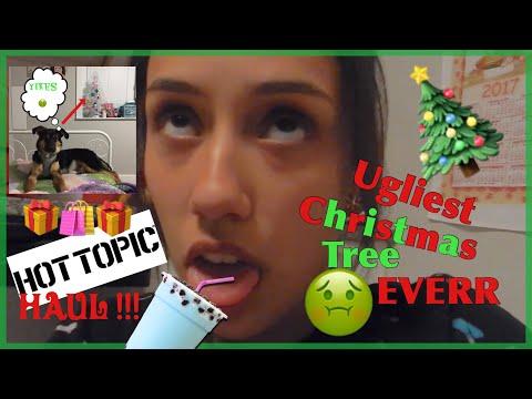 I'M THE GRINCH ! Decorating the Christmas Tree FAIL & Black Friday Haul + BOBA Tutorial (not really)