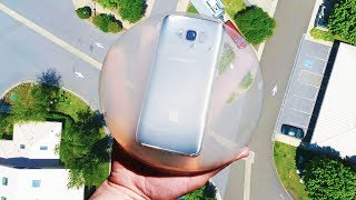 Can a Raindrop Cake Protect Galaxy S8 From 100 FT Drop Test?