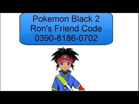Pokemon black and white 2 friend code