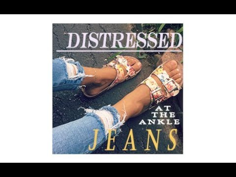 DIY | Distressed at the Ankle Jeans