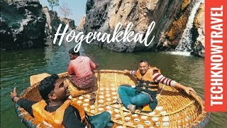 Download Hogennakal Falls Coracle Ride | Tamilnadu | Best Place to visit Near Bangalore Video