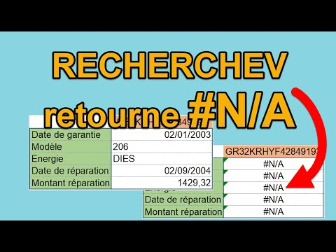La fonction RECHERCHEV retourne #N/A, pourquoi ?