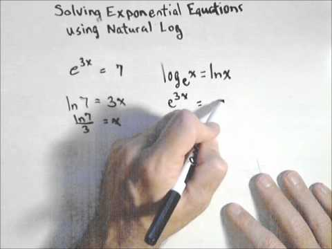 Solving an Exponential Equation Using Natural Log