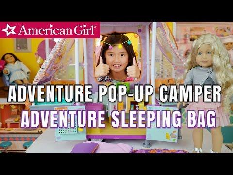 American Girl Adventure Pop-Up Camper & Sleeping Bag