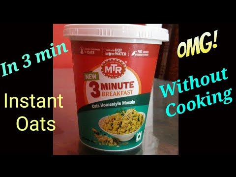 MTR Masala Homestyle Oats in 3 Min// Without Cooking