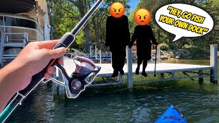 ANGRY OLD COUPLE HARASSES US FOR FISHING! (THEY WERE PISSED)