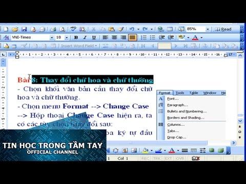 Word 2003 - Chương 2 - Change Case