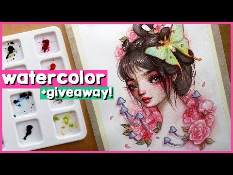 Learn watercolors with me + GIVEAWAY! 🎨 Studio Sessions Ep. 37