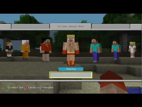 Minecraft Update 1.7.3 for the XBOX 360!! (Character Skin Change Demo)