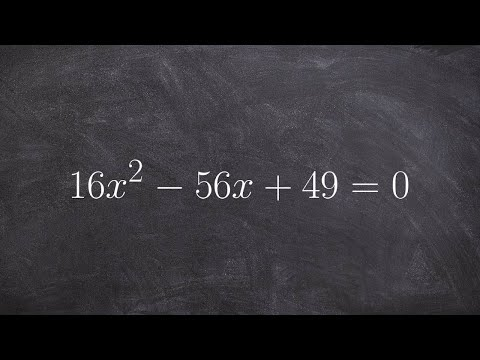 How to find the discriminant and label the solutions of a quadratic