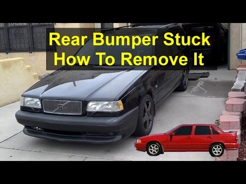How to remove a stuck bumper if the bracket bolts break, rusted. Volvo 850, S70, V70, etc. - REMIX