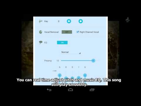 BlueKara karaoke app for Android  Sing / Record/ pitch-shft/ vocal remove / EQ /Reverb Demo