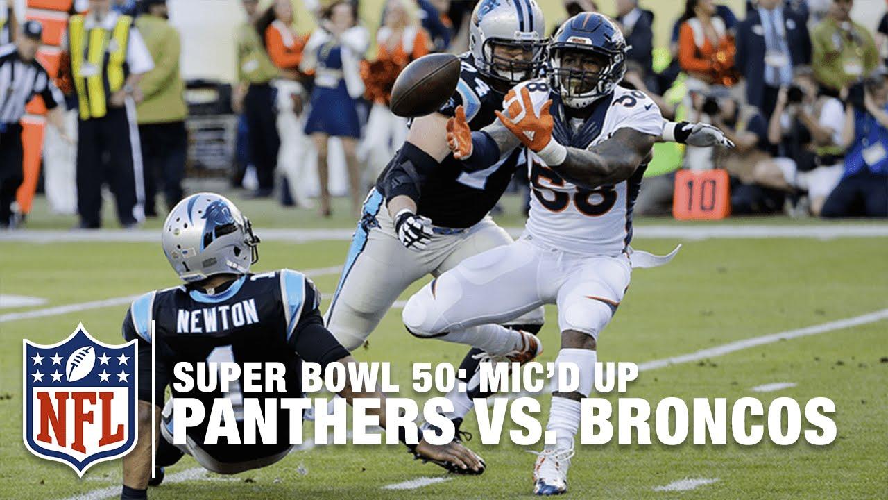 Panthers vs. Broncos: Super Bowl 50   First Half Mic'd Up Highlights   Inside the NFL