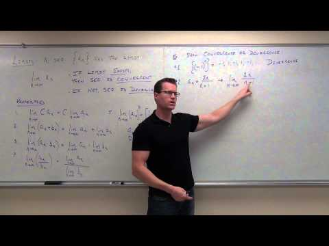 Calculus 2 Lecture 9.1:  Convergence and Divergence of Sequences
