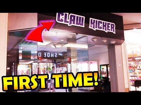 Playing Claw Kicker's New Arcade at Mall of Monroe!  ArcadeJackpotPro