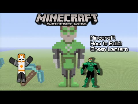 Minecraft How To Build: Green Lantern (Pixel Art)