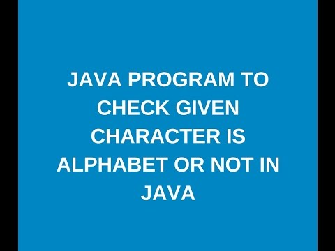 Write a java program to check given input character is alphabet or not ?