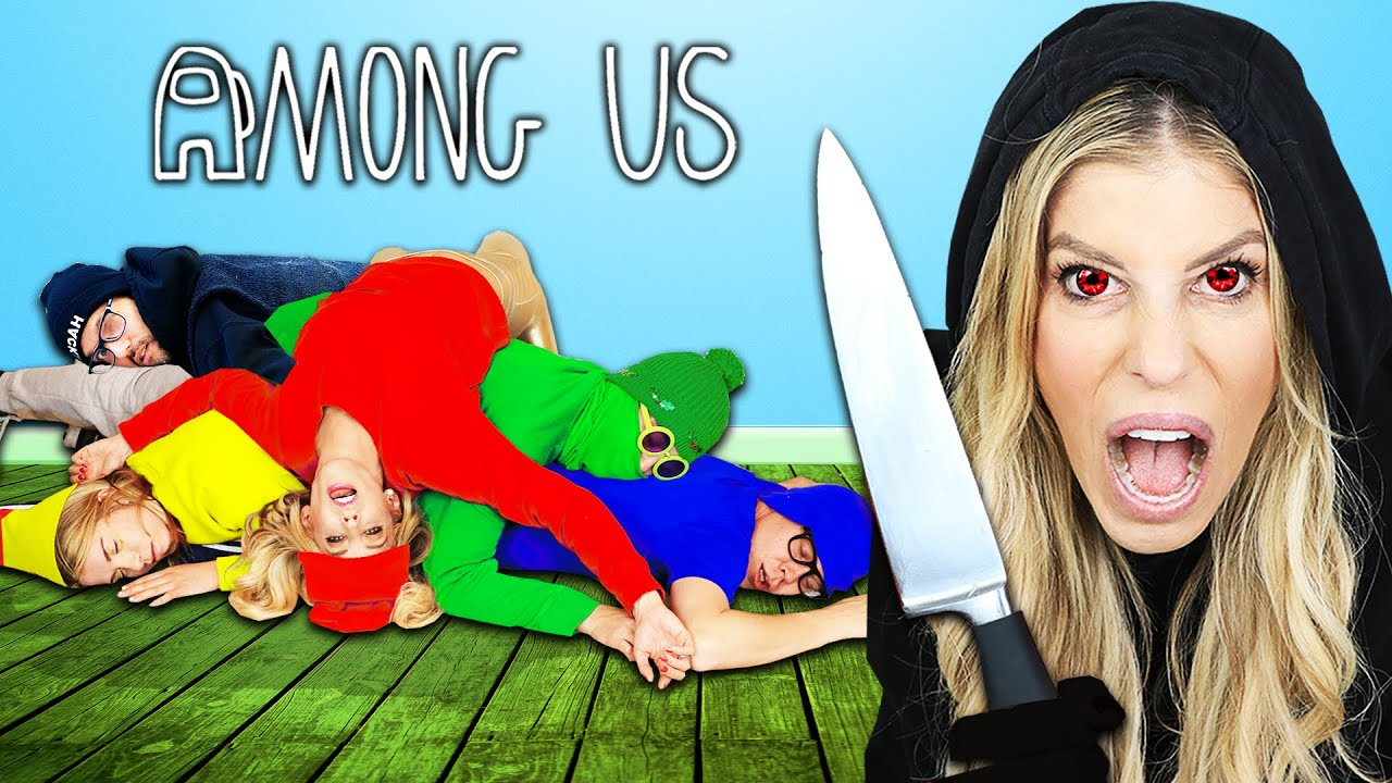 AMONG US Hide and Seek in Real Life But My TWIN is the IMPOSTER | Rebecca Zamolo