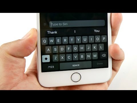 iOS 11: How To Activate Type To Siri