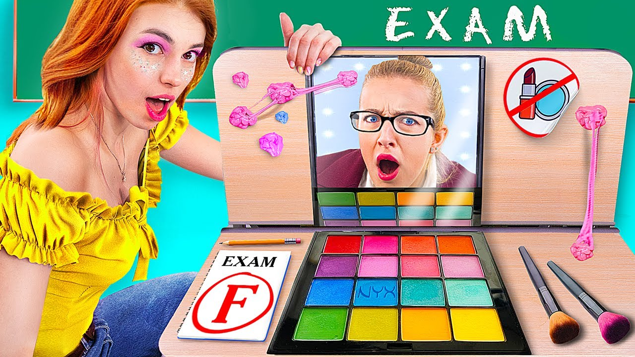 How to Sneak Makeup into College / If My Mom Was the Principal!