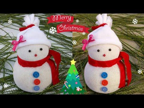 DIY Snowman|Making easy socks snowman|Christmas craft idea for kids|Christmas & New Year decor ideas