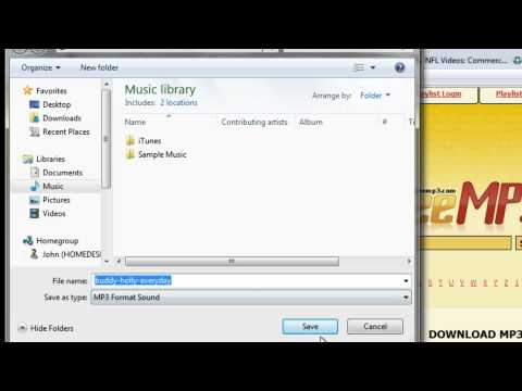 How to Get ~FREE~ Songs for your Computer, iPod, ETC. [QUICK AND EASY] -IN HD- NO DOWNLOAD NEEDED