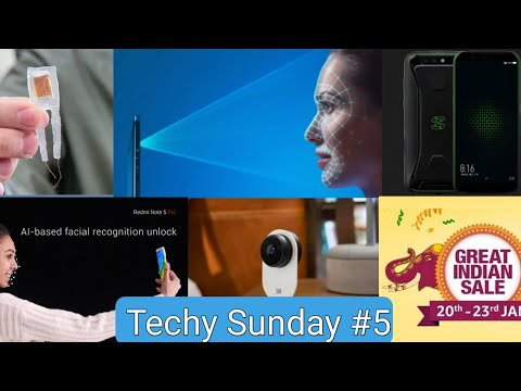 Techy Sunday #5   Whatsapp Fingerprint, Amazon, Xiaomi Black Shark, Face Unlock   Techno Buzzer