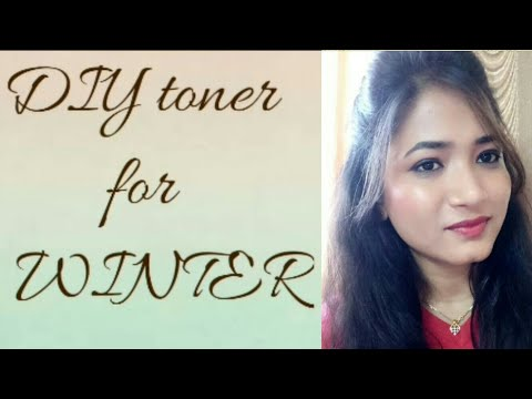 DIY toner for winter | Glycerin & rosewater for glowy  skin