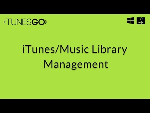 TunesGo: Cleaning Up iTunes Library,Fix id3 tags,Delete Duplicate Songs Clean missing Tracks