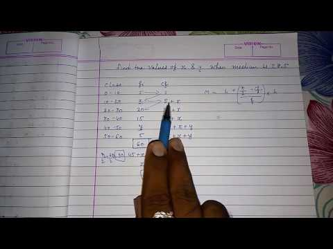Find missing frequency when median is given ll cbse class 10 maths chapter 14 statistics