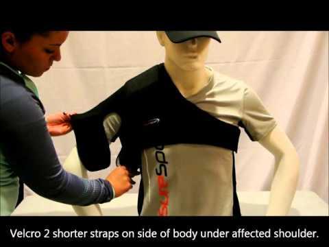 SureSport Shoulder Brace Application
