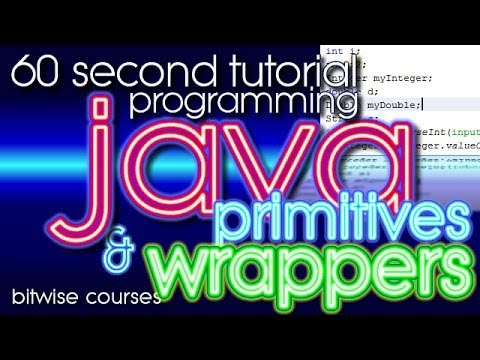 Java Programming in 60 Seconds: Primitive data types and Java class wrappers
