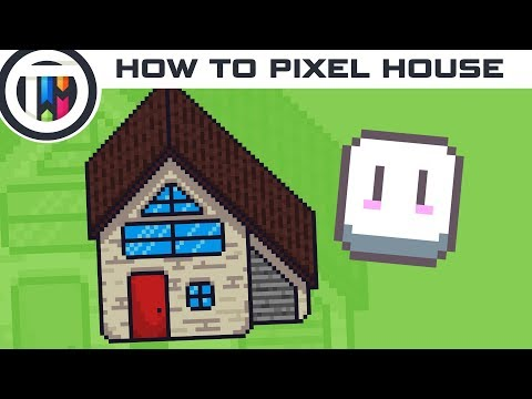 Aseprite Tutorial - How to make a Pixel Art House