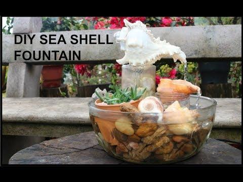 seashell fountain- DIY water fountain at home