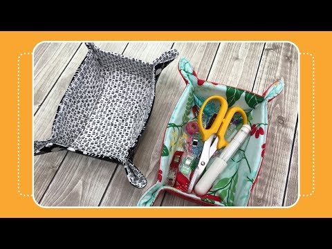 How to Sew a Snap Up Caddy with Crafty Gemini