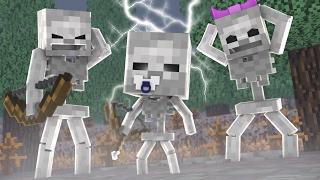 Minecraft: WHO'S YOUR DADDY FAMILY? - BEBÊ ESQUELETO É UM ÓTIMO ARQUEIRO! (Baby Skeleton Archer )