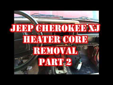 JEEP CHEROKEE XJ HEATER CORE REMOVAL PART 2