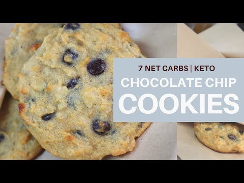 **Chocolate Chip Cookies**   7 NET CARBS PER COOKIE   KETO  #coconutflour   #ketogenic   #lchf