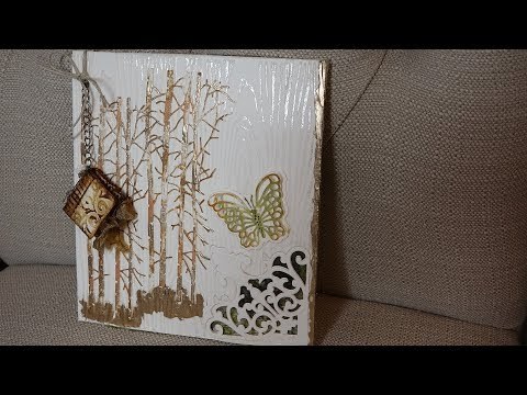Giveaway Card #5 Tissue Paper Stained Glass & Ultra Mini Album