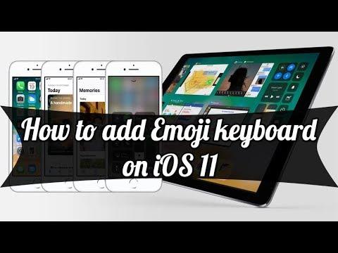 How to add Emoji keyboard on iOS 11