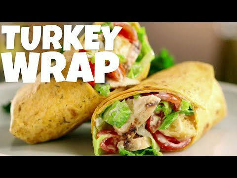 Healthy Wrap Recipe - turkey wraps - turkey meat - ground turkey - tortilla