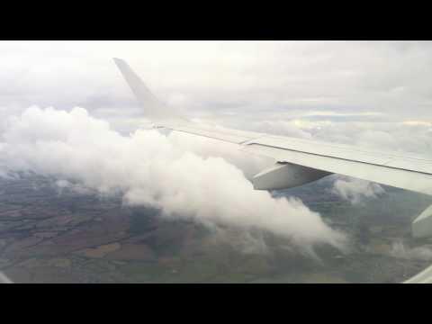 Landing at Birmingham Airport, FLYBE FLIGHT BE3002 PARIS CDG - BIRMINGHAM INTERNATIONAL