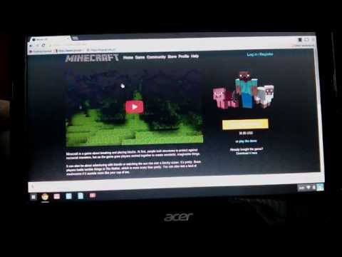 install minecraft on chromebook acer c720