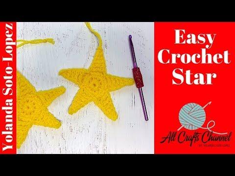 Easy Crochet Star,  Great for Christmas Decorating - Beginner level