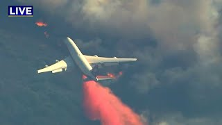 WINE COUNTRY FIRE:  Video of jumbo jet making retardant drop on Wine Country fire
