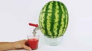 How to Make Watermelon Juice Dispenser